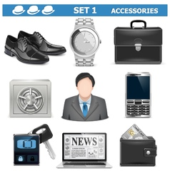 Male Accessories Set 1 vector image