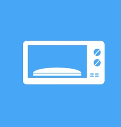 Microwave on blue background vector image