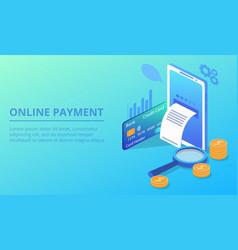 online smartphone payment vector image
