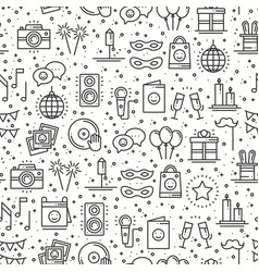 party celebration seamless pattern birthday vector image