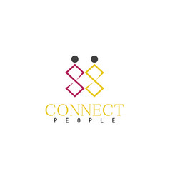 people connect logo vector image