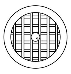 Pie with lattice top icon outline style vector