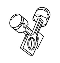 piston icon doodle hand drawn or outline icon vector image