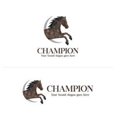 polygon horse logo vector image
