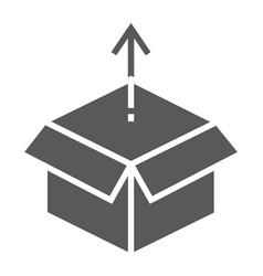 product release glyph icon development vector image