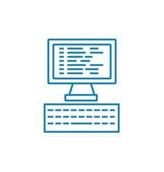 programming linear icon concept programming line vector image