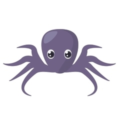 Purple octopus sea life vector