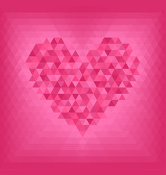 rose triangle heart on pink and rose background vector image