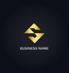 s gold logo vector image