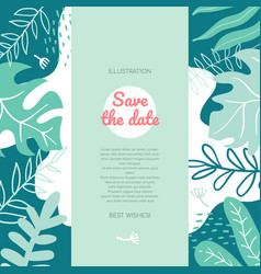 Save date - modern flat style abstract banner vector