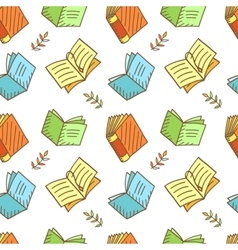 Seamless Book Pattern vector image