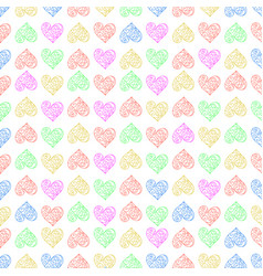 seamless pattern background with lace heart vector image