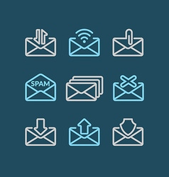 Set E-mail icons vector image