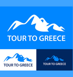set logo templates for a tours to greece vector image