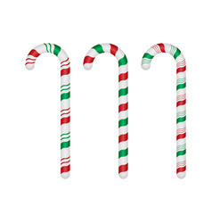 Set of candy canes on white background eps10 vector