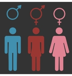 Set of gender symbols vector image