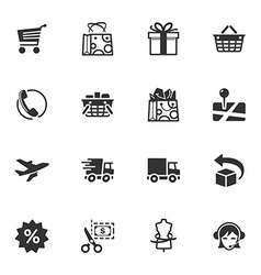Shopping and E-commerce Icons - Set 1 vector