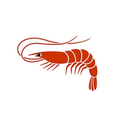 Shrimp logo vector
