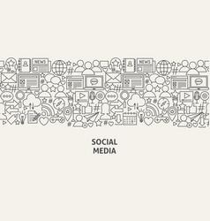 Social media banner concept vector