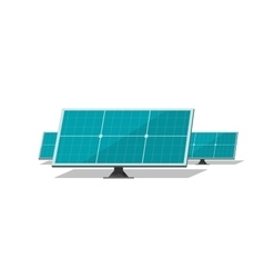Solar panels isolated on white background vector image