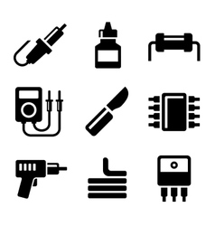 Solder Icons Set vector image