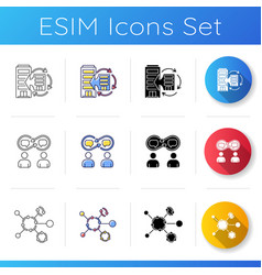 synergy icons set vector image