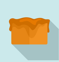 Toffee cube icon flat style vector
