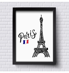 Tourism poster or card design for Paris vector image vector image