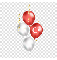 Turkey national day realistic balloons with flag vector