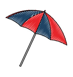Umbrella beach accesory vector