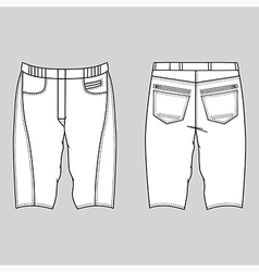 Unisex outlined template skinny shorts vector image vector image
