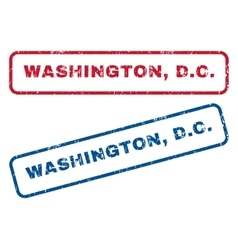 Washington DC Rubber Stamps vector