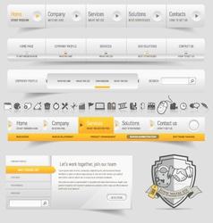 Website template infographic design menu vector