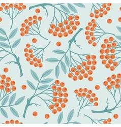 Winter seamless pattern with stylized rowan vector