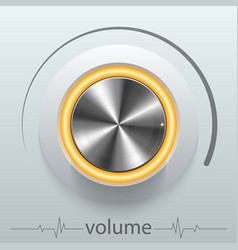 button volume vector image vector image