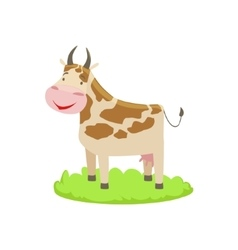 Cow Farm Animal Cartoon Farm Related Element On vector image