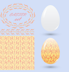 easter set with a handmade ornament elements in vector image vector image