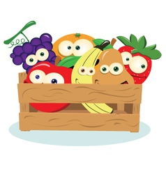 Funny Fruit in a Box vector image
