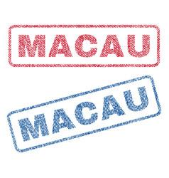 Macau textile stamps vector