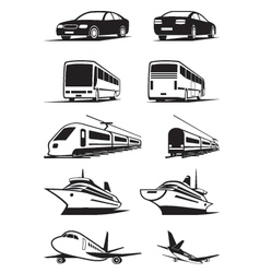Passenger transportation in perspective vector image