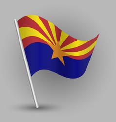 triangle american state arizona flag vector image