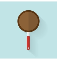Pan in Flat style with long shadow vector image vector image