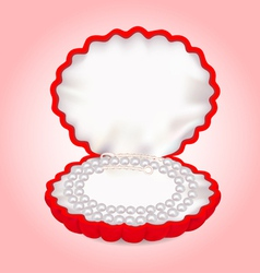 pearl beads necklace vector image
