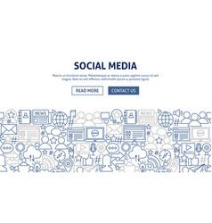 Social media banner design vector