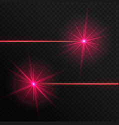 two red laser beams vector image