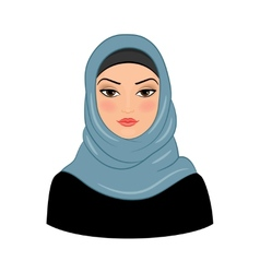 Arabic muslim woman vector image vector image