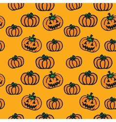 hand-drawn Halloween pumpkins vector image