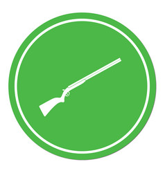 Hunting shot gun icon vector