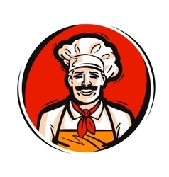 restaurant cafe logo fresh food cooking vector image vector image