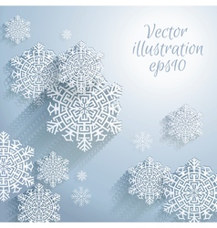 3D Abstract Snowflakes Christmas background vector image vector image
